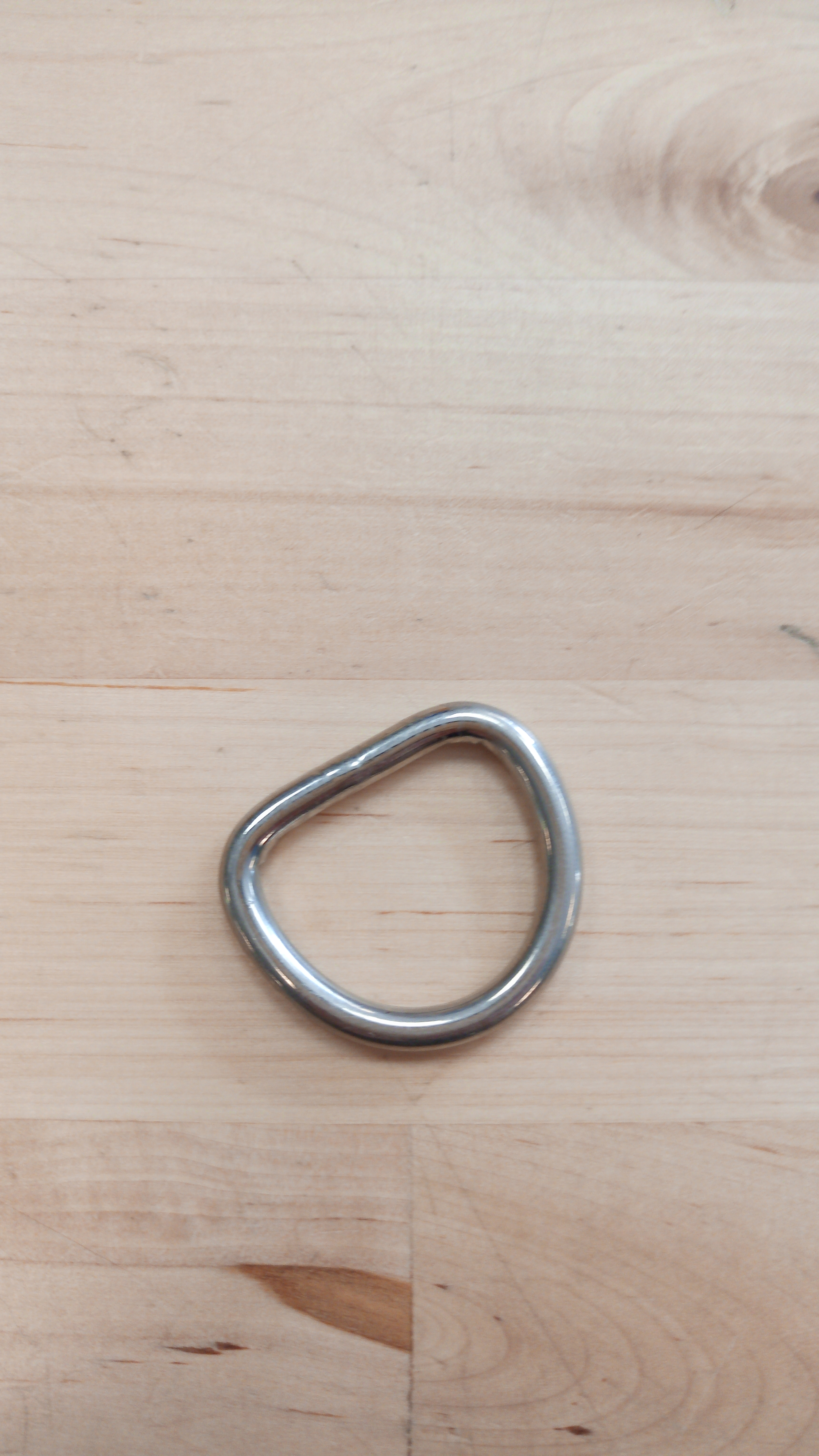 RVS D-ring removable W 30mm x H 25mm