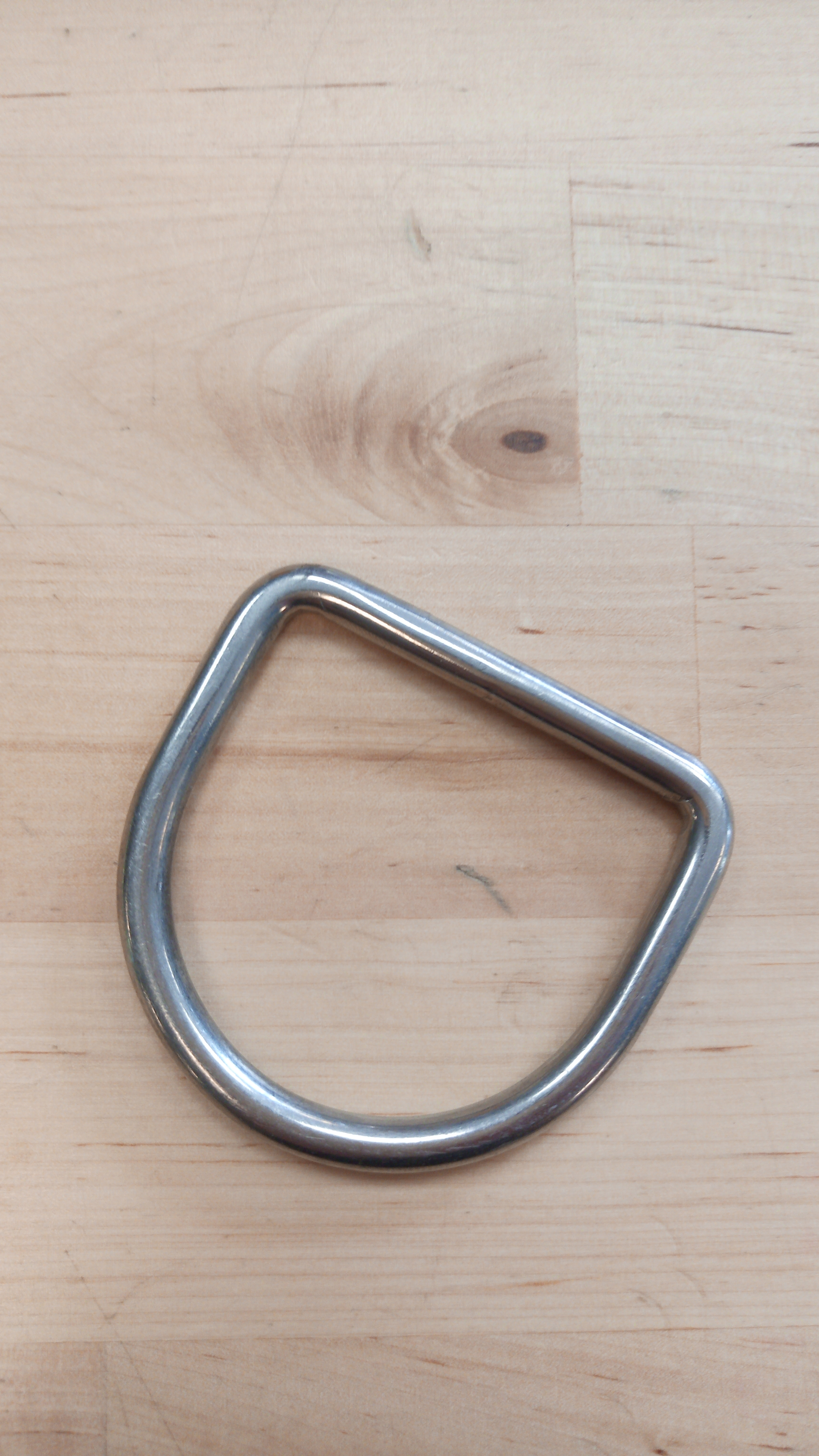 RVS D-ring removable W 55mm x H 50mm