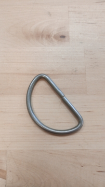 RVS (mat) D-ring removable (open) W 55mm x H 30mm