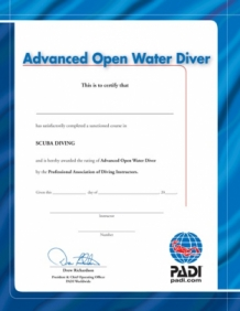 Certificate Advanced Open Water (English)