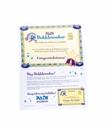 Certificate - Bubblemaker with Participant Card (English)