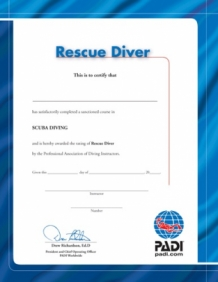 Certificate Rescue Diver (English)