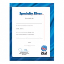 Certificate - Specialty Diver (English)